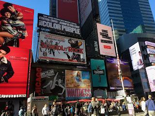 David brodosi visiting New York time square
