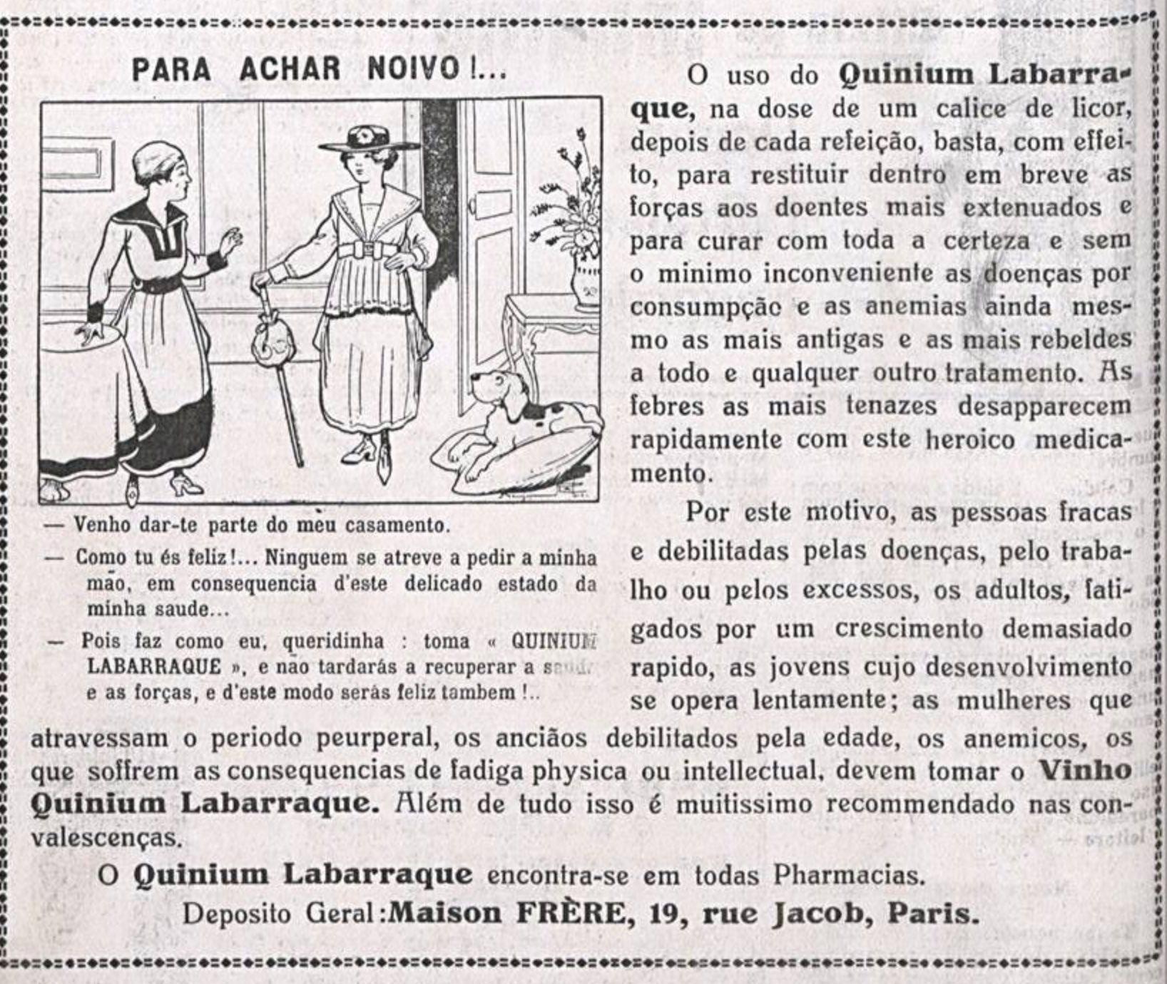 Anúncio de 1922 promovia medicamento para restabelecimento da saúde dos jovens