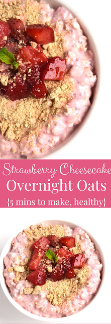 Strawberry Cheesecake Overnight Oats recipe