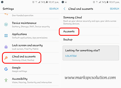 Removing Google Account from Android Device