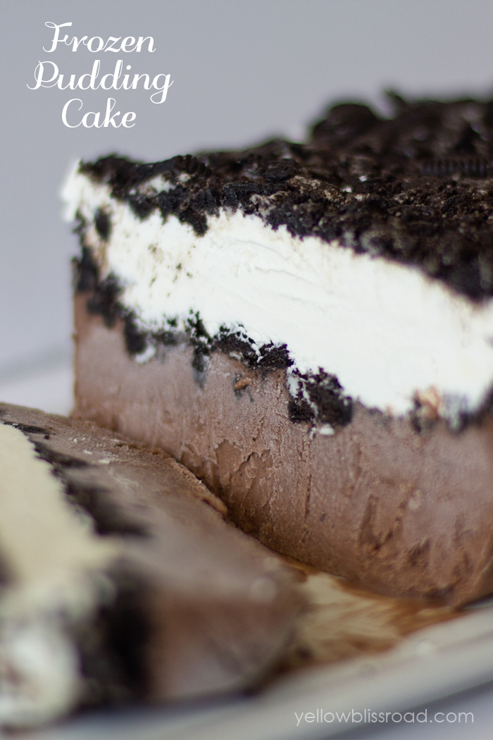 FROZEN OREO PUDDING CAKE #cakes #desserts #pudding #oreo #brownies