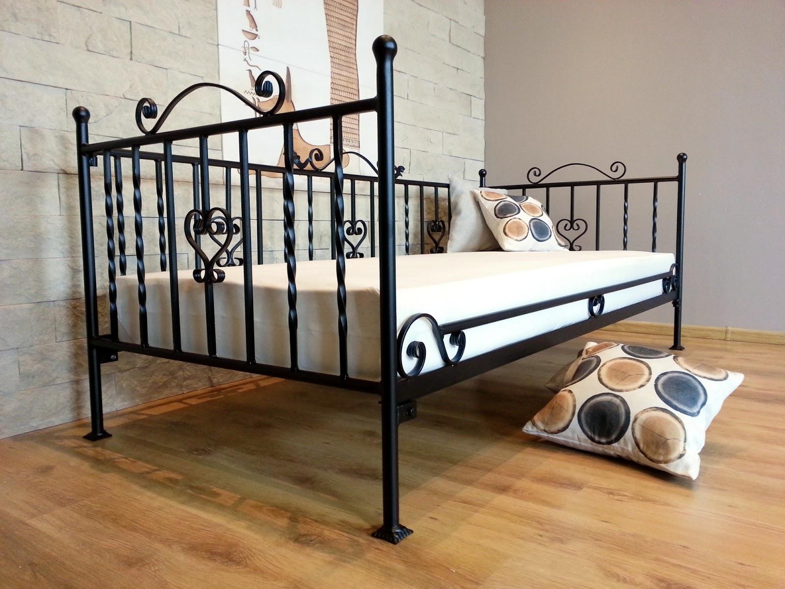 Łóżko metalowe sofa wzór 4S