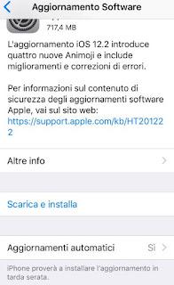 Aggiornamento iPhone