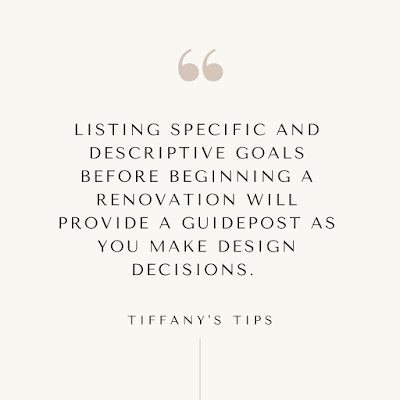 Tiffany's Tips: Renovating Advice from Pretty Real Blog