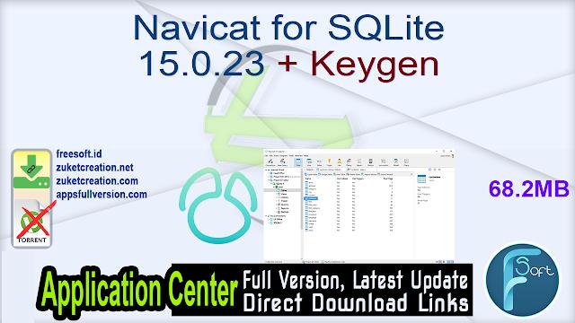 Navicat for SQLite 15.0.23 + Keygen