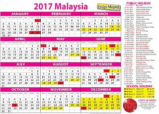 FREE CALENDAR 2017 (MALAYSIA) - KALENDAR PERCUMA 2017 (MALAYSIA)