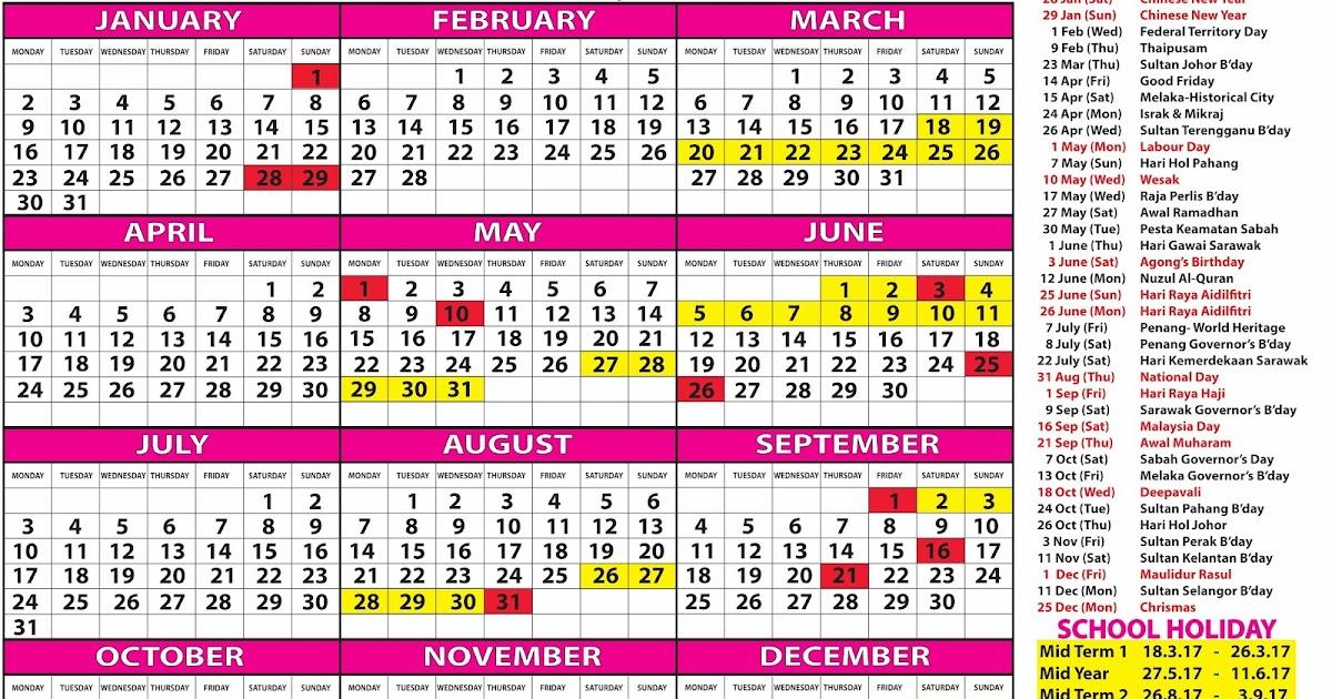 TDS: FREE CALENDAR 2017 (MALAYSIA) - KALENDAR PERCUMA 2017 (MALAYSIA)