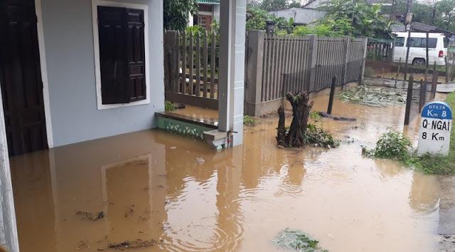 Quảng Ngãi: 1 người mất tích, 1.061 ngôi nhà bị ngập do mưa lũ