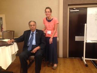 Dr Isaac Goiz with Jill