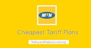 MTN Cheapest Tariff Plans