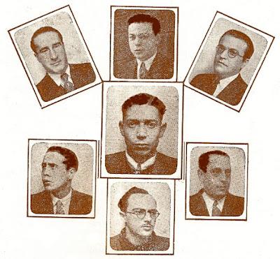 Junta Directiva de la Penya Obertura, diciembre 1936