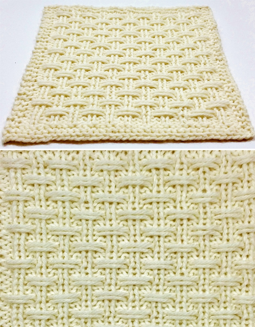 Triple Slip Rib Square - Free Pattern