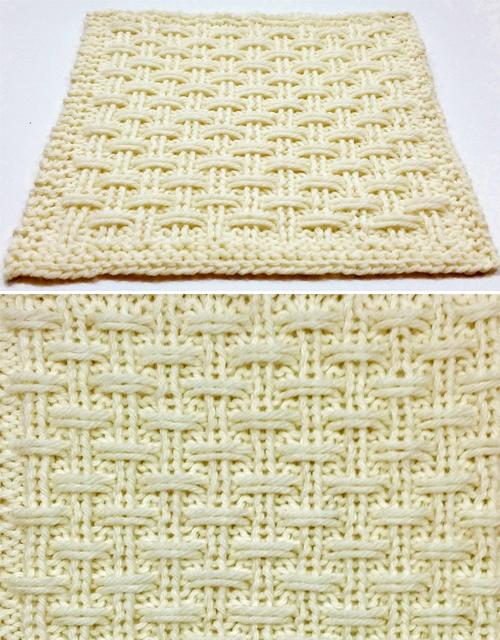 Triple Slip Rib Square - Free Pattern