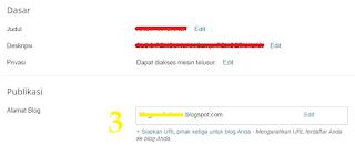 langkah 3 cara mengubah URL subdomain blogspot