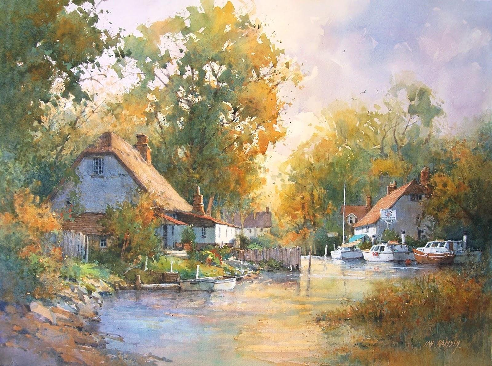 Somerset River Scene, England