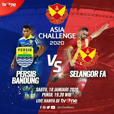 Live Streaming Persib Bandung vs Selangor 18.1.2020