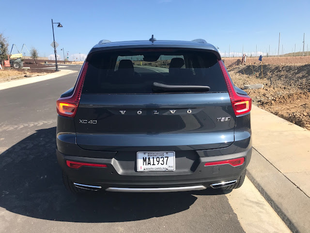 Rear view of the 2020 Volvo XC40 T5 AWD Inscription