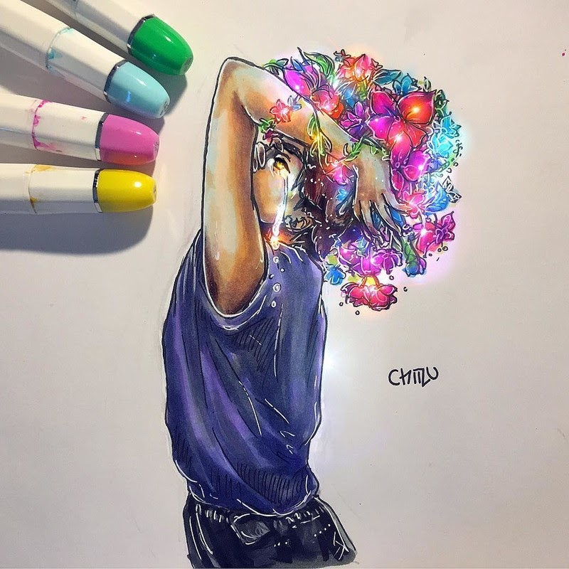 08-Silent-cry-chiizu-art-Drawing-Dark-Subjects-Bursting-with-Color-www-designstack-co