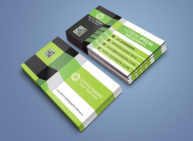 3d business card template coreldraw design cdr vector free