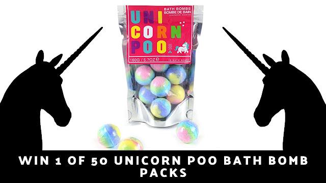 Competition: Win 1 of 50 Unicorn Poo Bath Bomb Packs