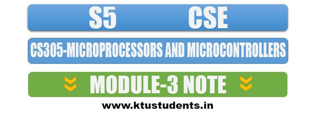 note for cs305 microprocessors and microcontrollers module 3