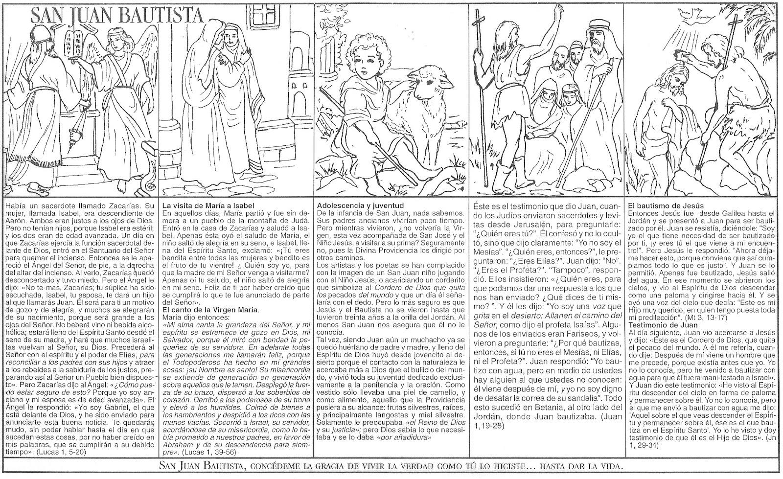 Dibujos Para Colorear San Juan: Imagenes De San Juan Bautista Para Colorear