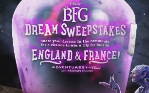 To celebrate the release of the new BFG movie, Adventures By Disney is giving you the chance to enter daily to win a trip for you and the kids to both London AND France and more!