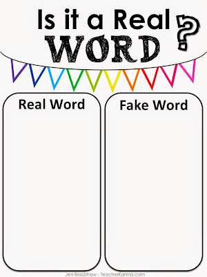 Free Shake-a-Word phonics and spelling literacy center.  TeacherKarma.com