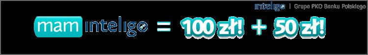 100 zł za otwarcie konta Inteligo + 50 zł za każde polecenie w Mam Inteligo