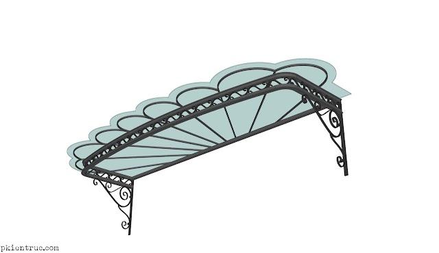 Nét duyên hoa văn sắt uốn nghệ thuật có file mẫu 3d SU