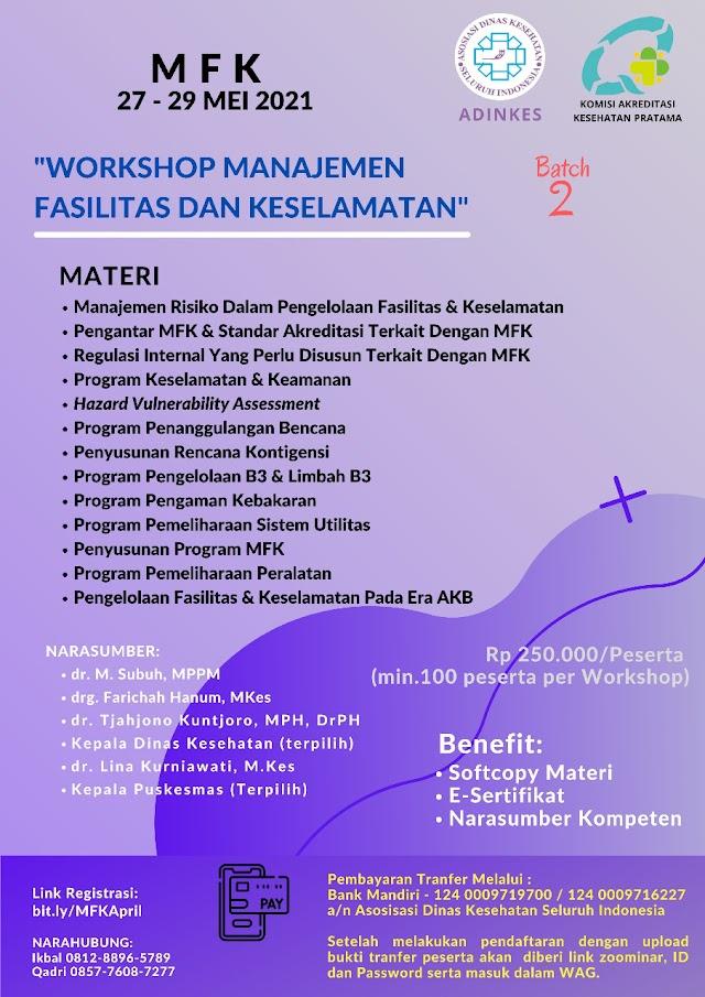 """(E-Sertifikat) Workshop Manajemen Fasilitas dan Keselamatan"""""""