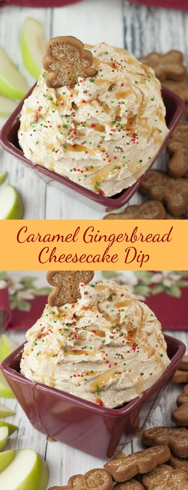 Caramel Gingerbread Cheesecake Dip