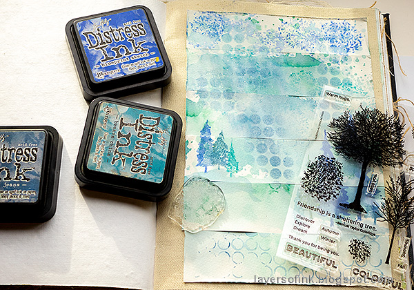 Layers of ink - Rain Art Journal Page Tutorial by Anna-Karin Evaldsson.