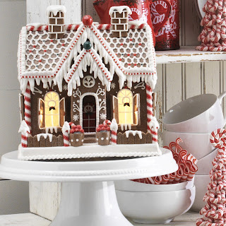 gingerbread house with white frosting
