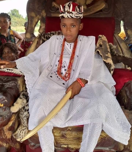 10-year-old boy crowned a King in Anambra State