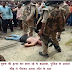 युवक की हत्या कर भाग रहे थे बदमाश, पुलिस के सामने भीड़ ने पीटकर उतारा मौत के घाट