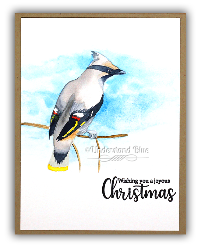 Watercolor Waxwing By Understand Blue