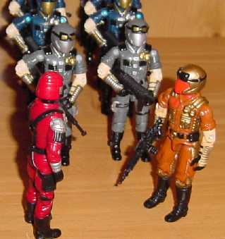 1990 Gold Viper, Super Sonic Fighters, 1991 Crimson Guard Immortal, 1998 Cobra Trooper, Cobra Officer