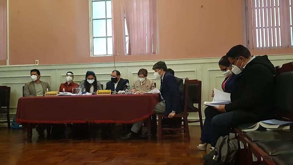 Audiencia presencial y virtual desarrollada en el TDJ de La Paz / AGUSTÍN ZAMBRANA - EL BÚNKER