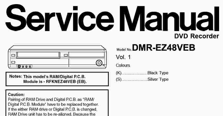 panasonic dmr ez48 service manual wiring diagram service. Black Bedroom Furniture Sets. Home Design Ideas