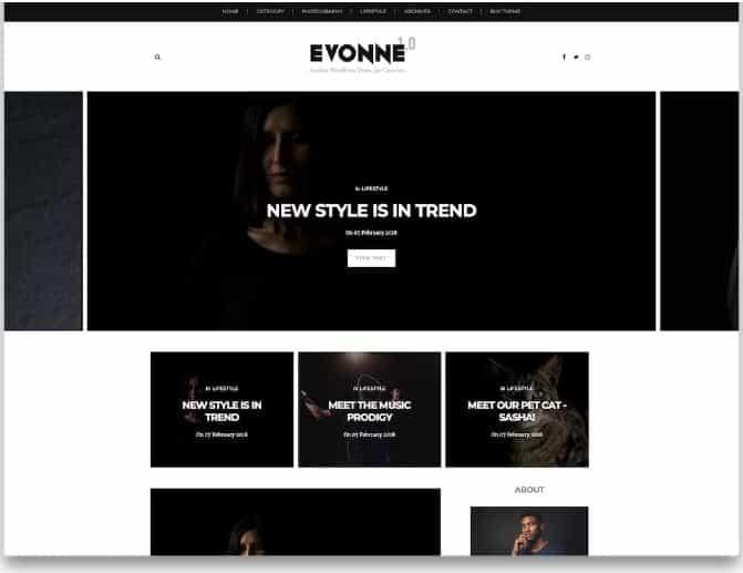 Evonne Blogger templates