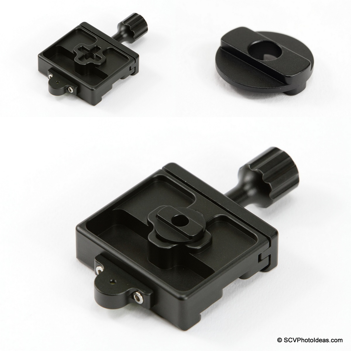 Desmond DBA-2 QR clamp + Desmond DBAD-1 bottom view Fitting seq