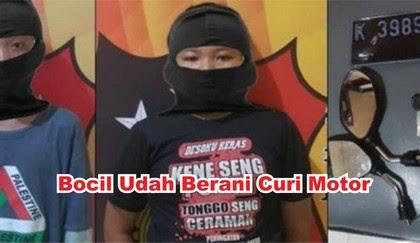 Bocil Nekat Maling Motor Di Barbershop Semarang, Katanya : Biar Keren Pak