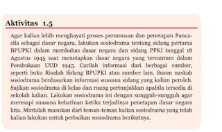Aktivitas 1.5 Naskah Sosiodrama Sidang BPUPKI, Tugas PKN kelas 7