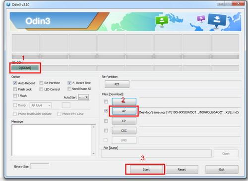 Cara Flash Samsung Galaxy J1 dengan Odin3 v3.10.0