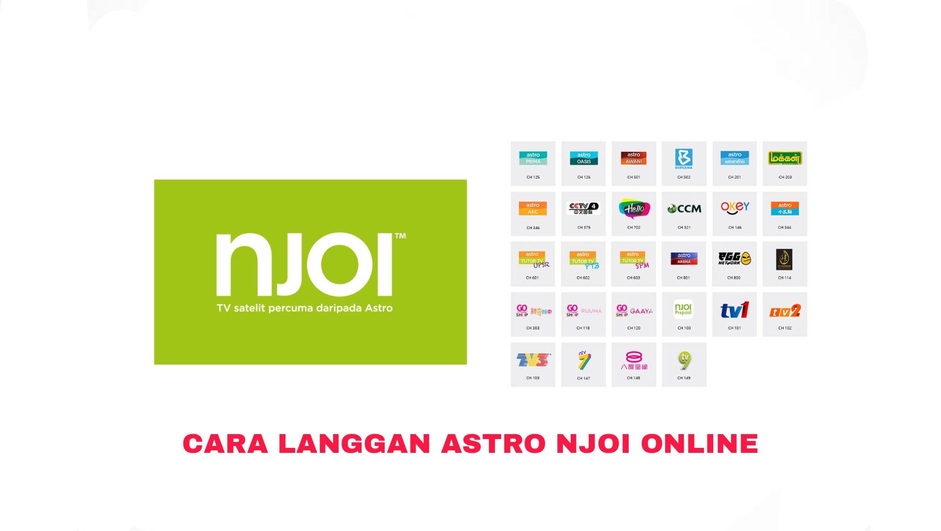 Cara Langgan & Beli Astro NJOI 2021 Online (Cara Topup)