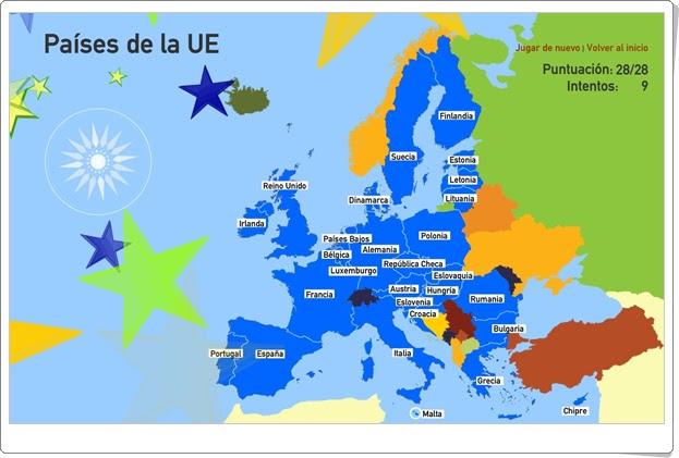 Juegos Educativos Online Gratis Pases de la Unin Europea