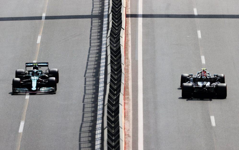 Bottas não conseguiu progredir em Baku, pois nomes como Sebastian Vettel, da Aston Martin, terminaram no pódio