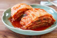 ما هو الكيمتشى Cabbage Kimchi وفوائدة  الصحية | طريقة العمل بالصور