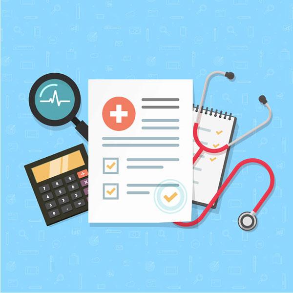 Illustration of healthcare analytics report